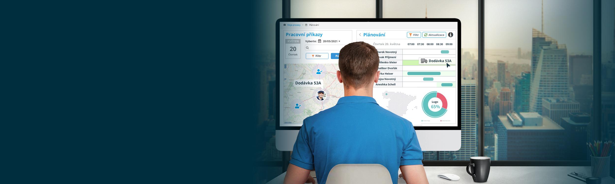 Workflow-Software pro řízení technického týmu