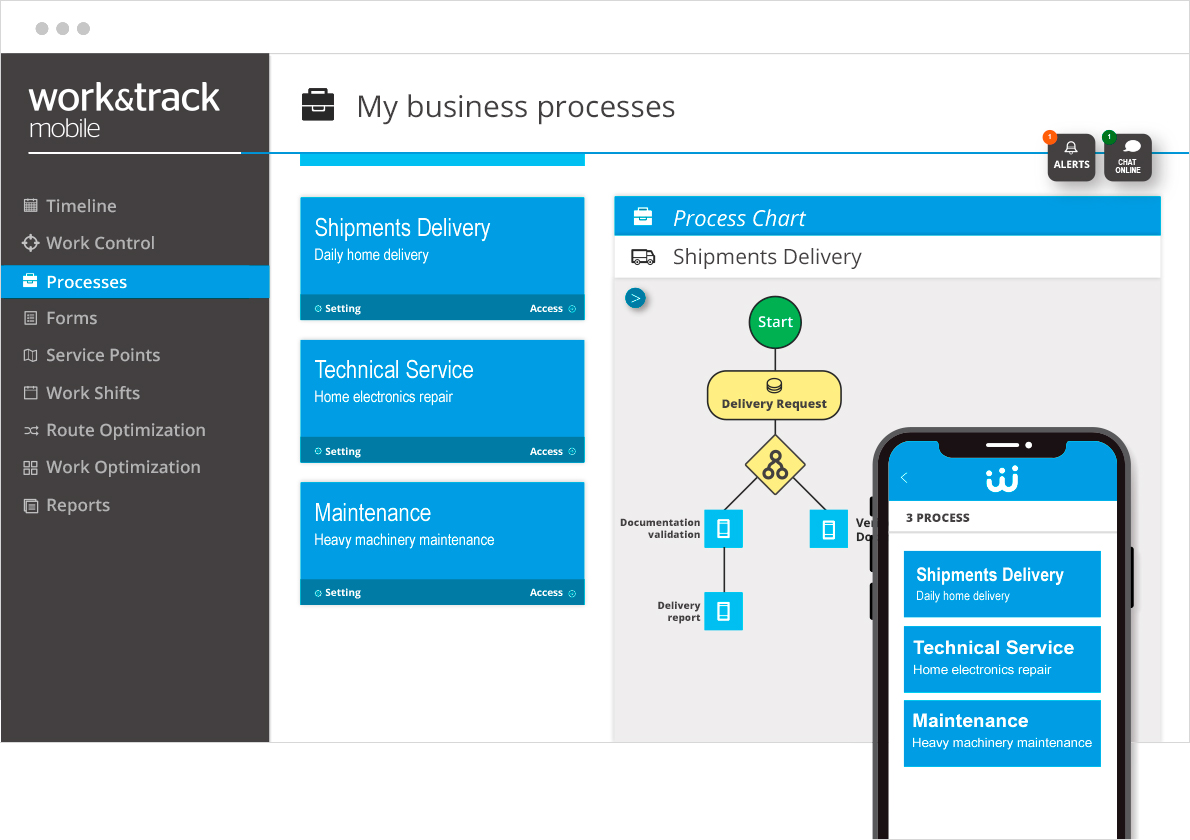 BPM Software Workandtrack Mobile