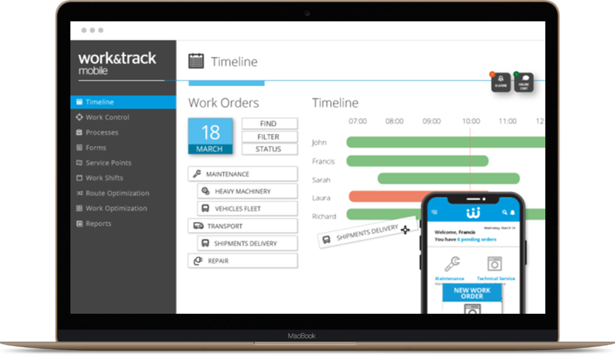 Field Service and Workflow Management System